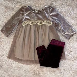 Koala Kids Velvet Dress & Pants